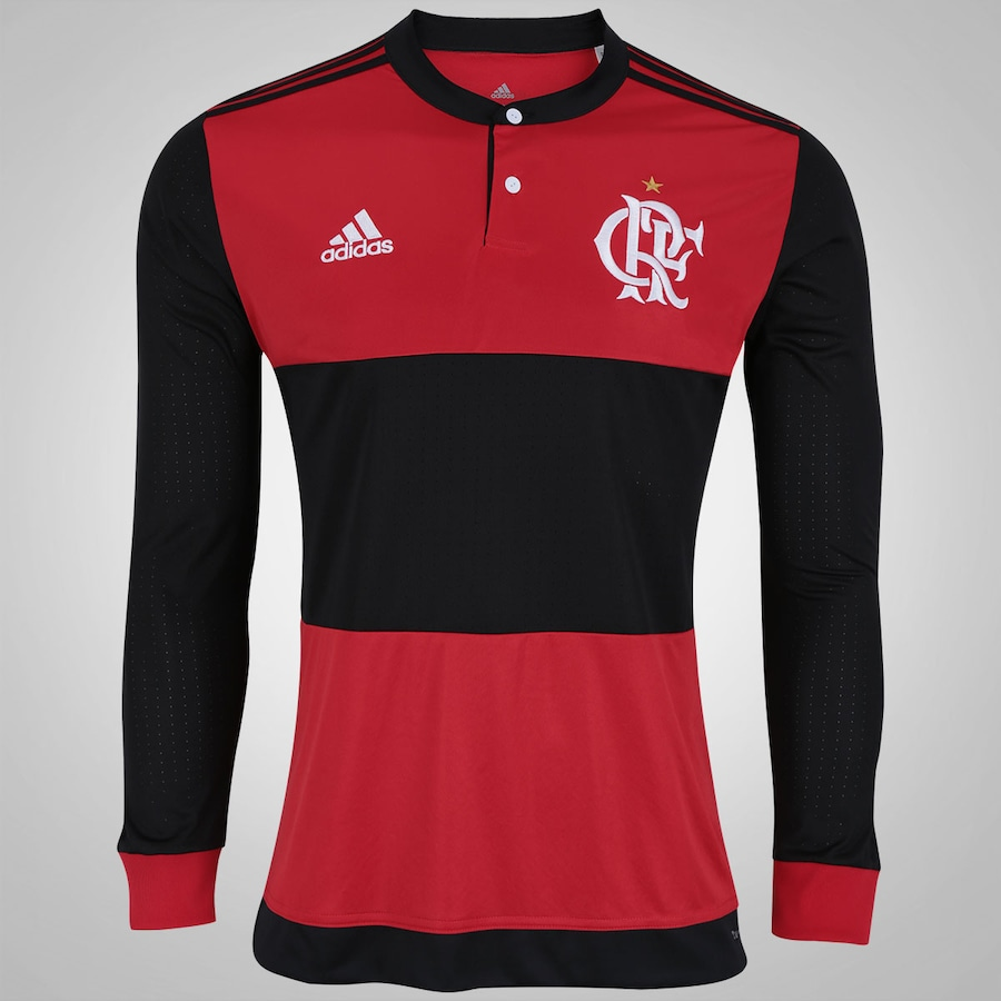 Camisa Manga Longa do Flamengo I 2017 adidas - Masculina 13be8871fb386