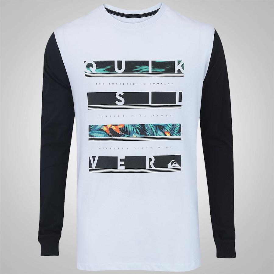 499649e62af7f Camiseta Manga Longa Quiksilver Read Between - Masculina