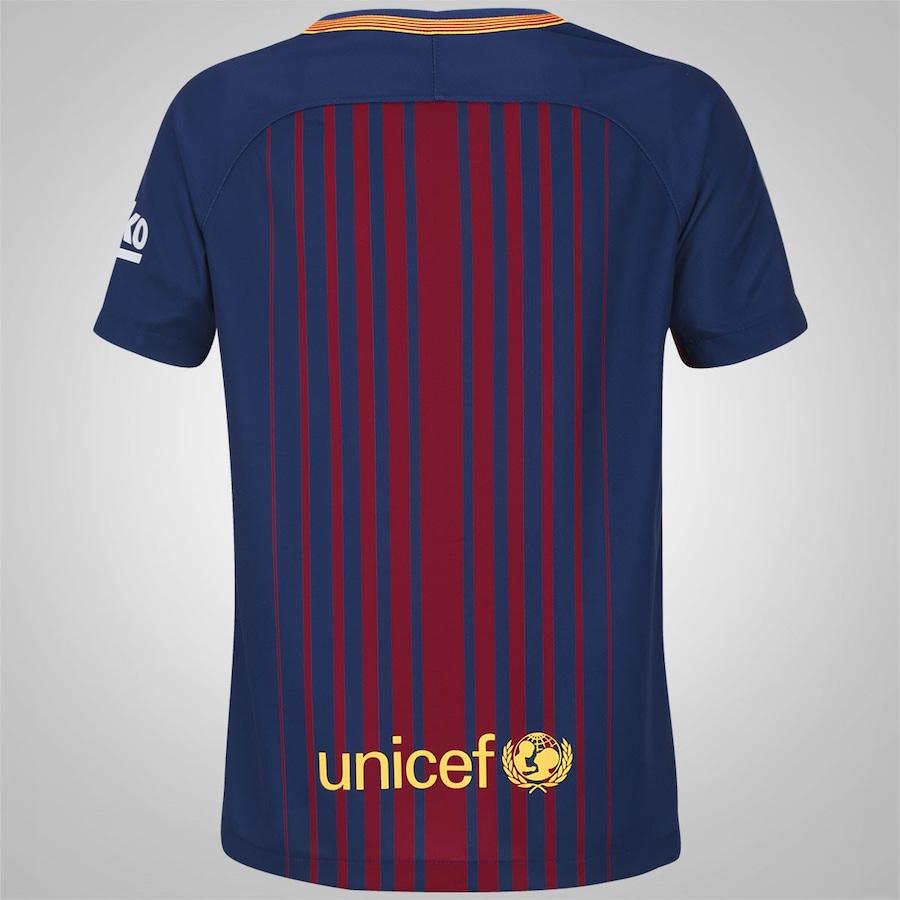 9e18bd971d1f1 Camisa Barcelona I 17 18 Nike - Infantil