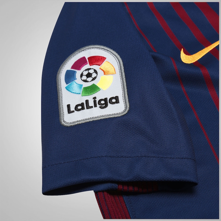 Camisa Barcelona I 17 18 Nike - Infantil 40165751bf8