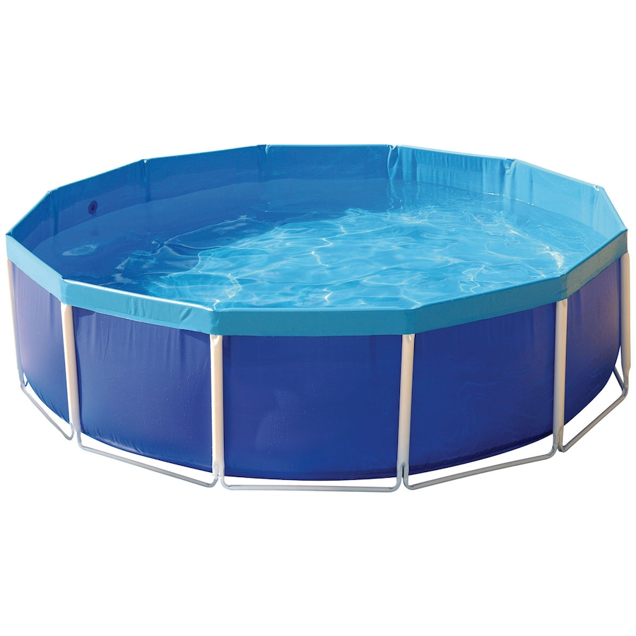 Piscina redonda estruturada mor 5500 litros for Piscina 8000 litros redonda
