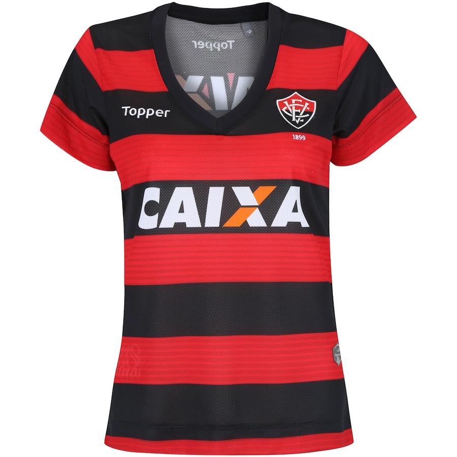 Camisa do Vitória I 2017 Topper - Feminina 1c9b72d204844