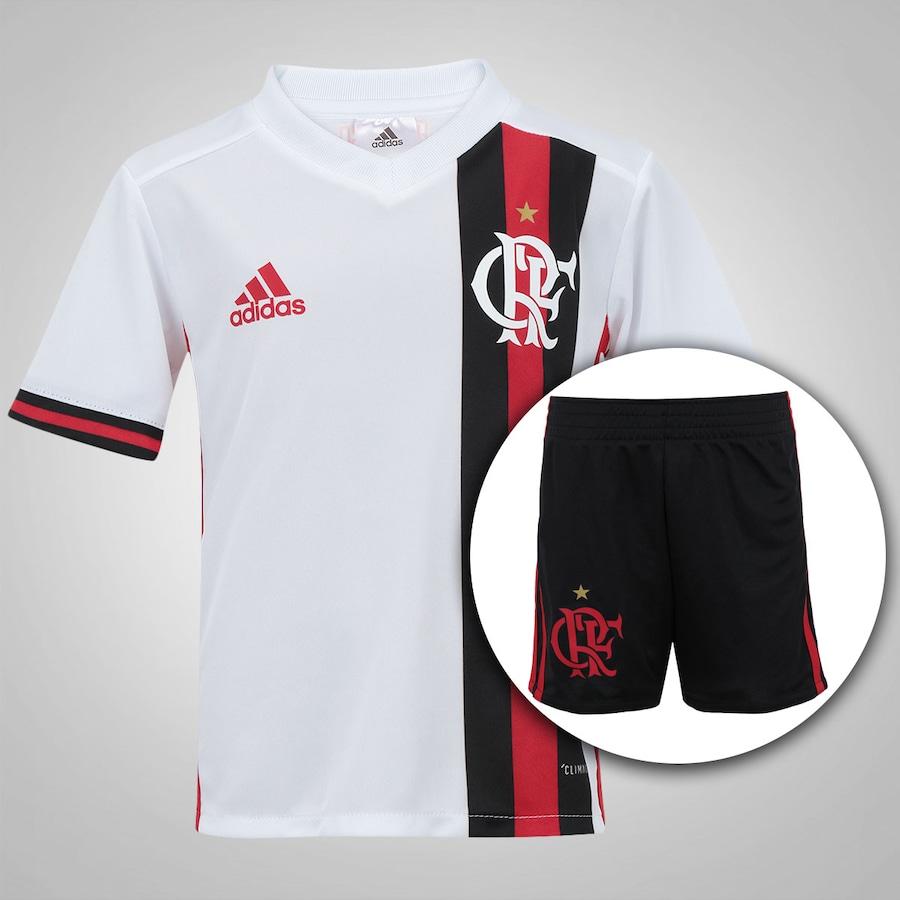 Kit de Uniforme de Futebol do Flamengo II 2017 adidas 8bb611b4a59ff