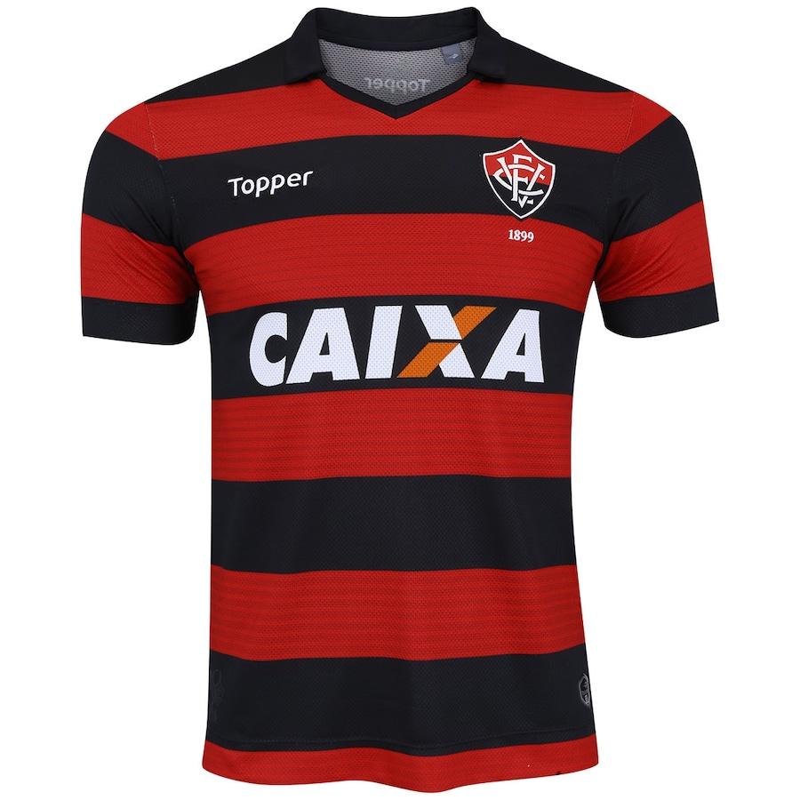 884251bc23 Camisa do Vitória I 2017 Topper - Masculina