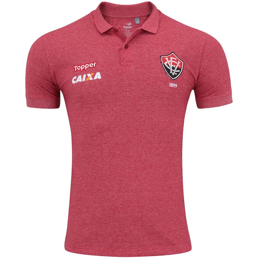 Camisa Polo do Vitória Viagem 2017 Topper - Masculina 561c5a29c1c35