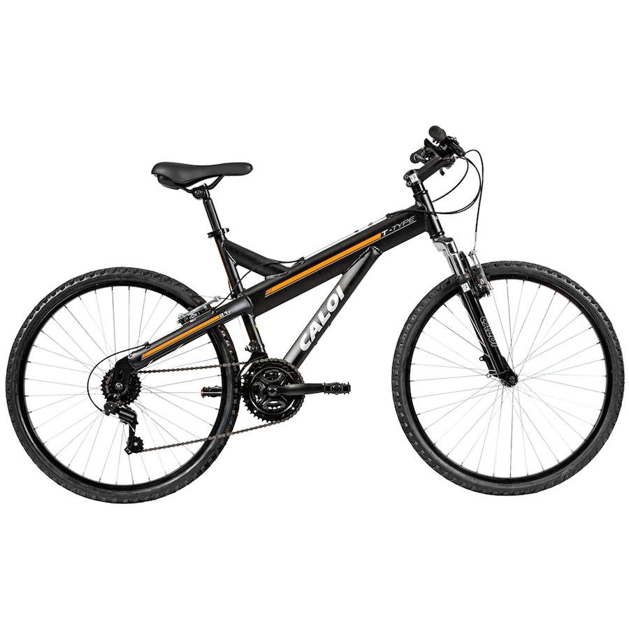 Mountain Bike Caloi T-Type - Aro 26 - Freios V-Brake - Câmbio Traseiro  Shimano TZ - 21 Marchas ab425eb12ce02
