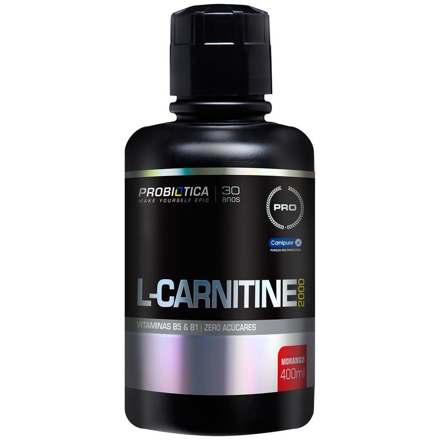 Termogênico Probiótica L-Carnitine 2000 - Morango - 400ml