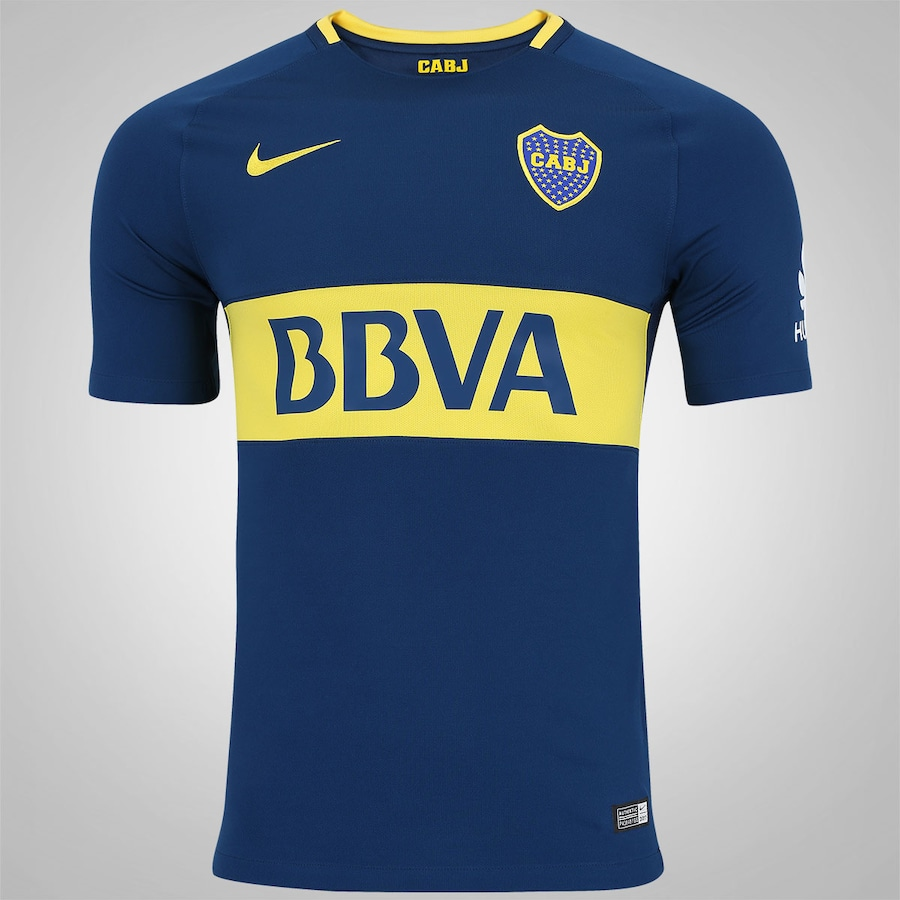 Camisa Boca Juniors I 17 18 Nike - Masculina 29f3cf4597a3e