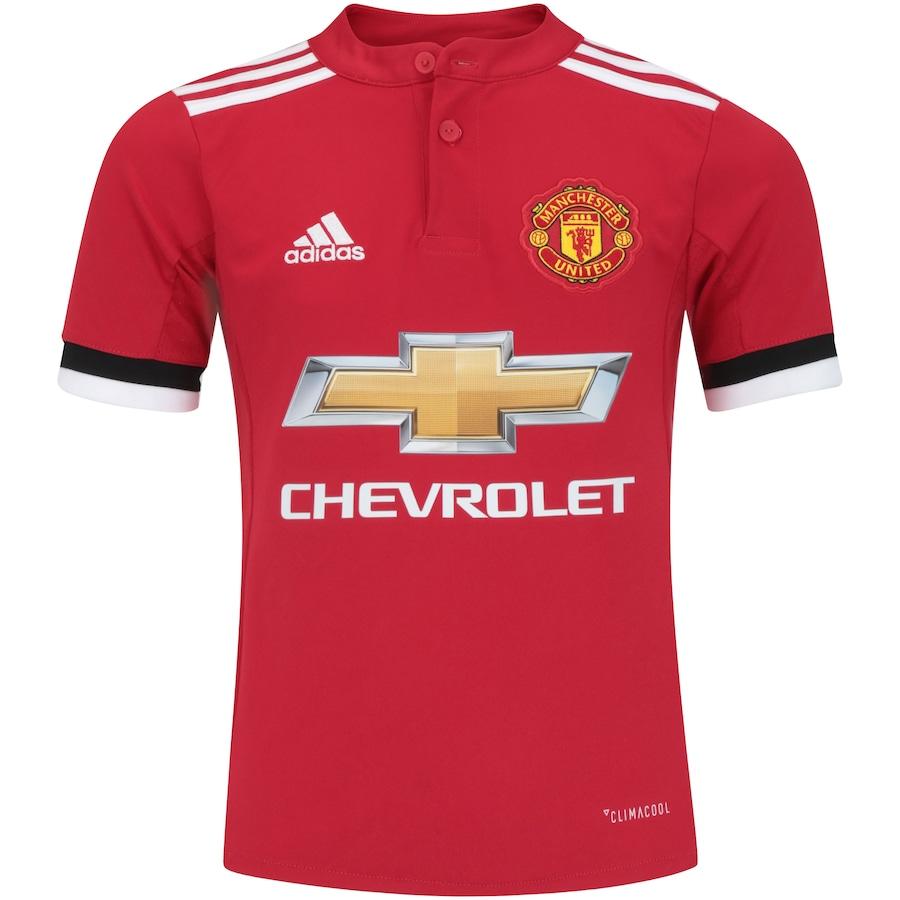 fe7b102d8b Camisa Manchester United I 17/18 adidas - Infantil