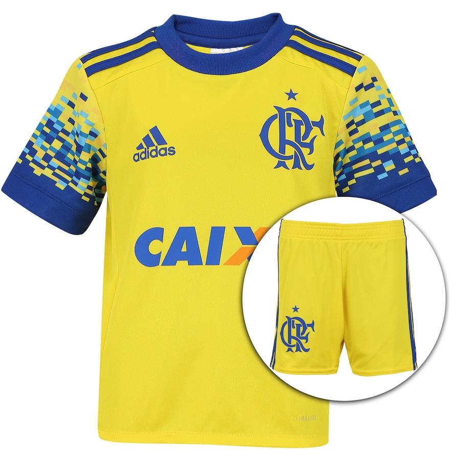 cc112fe99adeb Kit de Uniforme de Futebol do Flamengo III 2017 adidas
