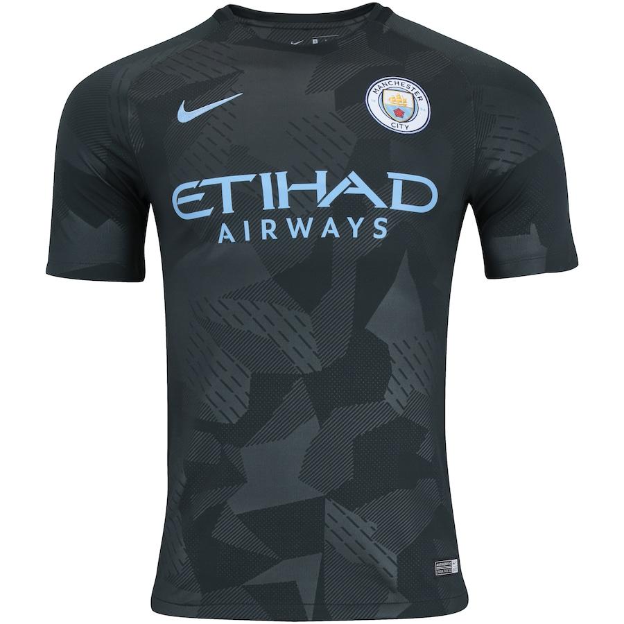 Camisa Manchester City III 17 18 Nike - Torcedor 16c36273f71e1