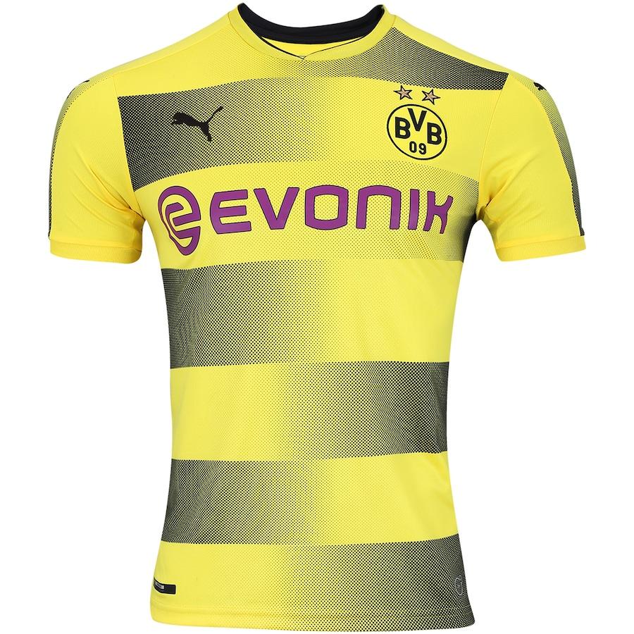Camisa Borussia Dortmund I 17 18 Puma - Masculina 2fdaad9531795