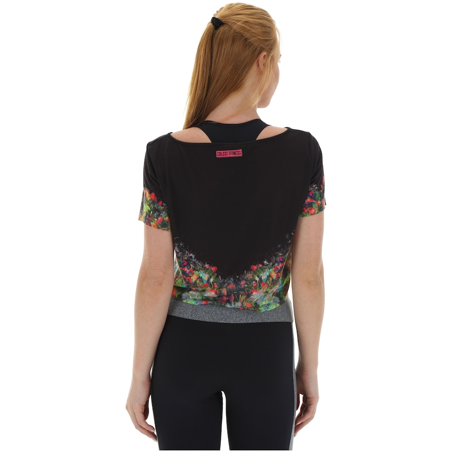 f777642bb0 Blusa Cropped Colcci Fitness Estampada - Feminina