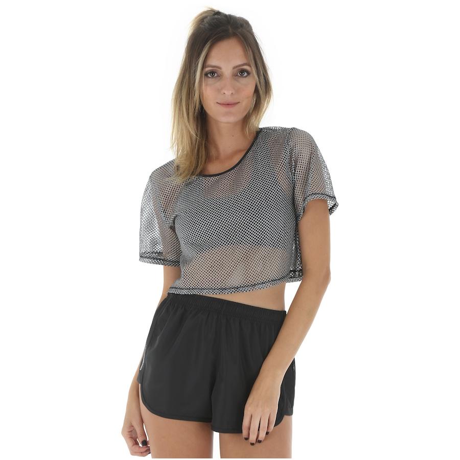 fae897088 Blusa Cropped Colcci Fitness Tela - Feminina