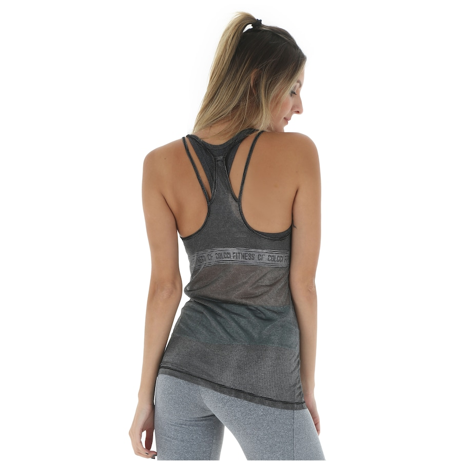df1c44c3565a7 Camiseta Regata Colcci Fitness 385700139 - Feminina