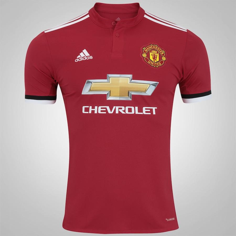 Camisa Manchester United I 17 18 adidas - Masculina 539ec08f4cd47