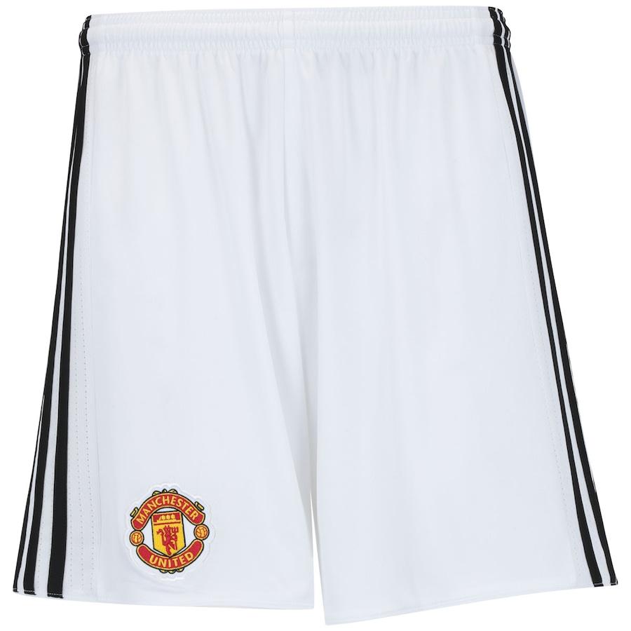 Calção Manchester United I 17 18 adidas - Masculino 7dc1389db5d85
