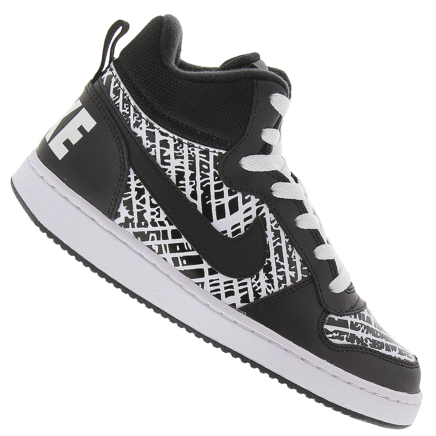 df7648eac10 Tênis Cano Alto Nike Court Borough Mid Print - Infantil
