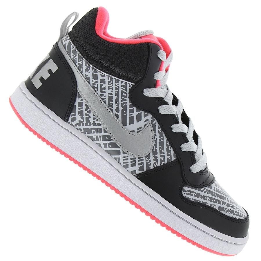 a571be146a Tênis Cano Alto Nike Court Borough Mid PR Feminino Infantil