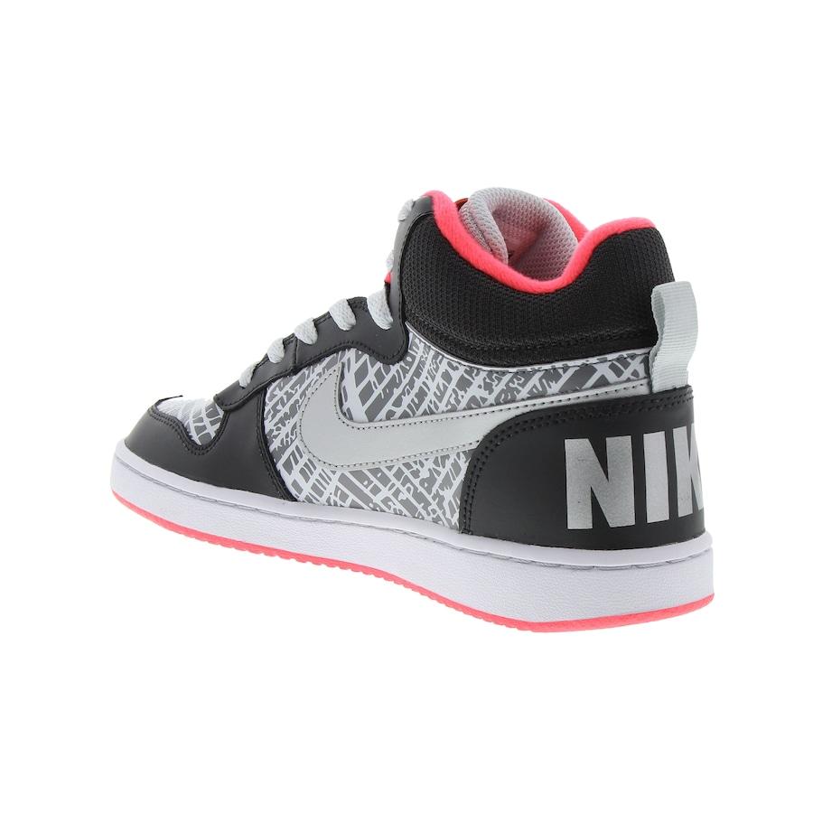 ... Tênis Cano Alto Nike Court Borough Mid PR Feminino - Infantil ... b55b8f77c6c