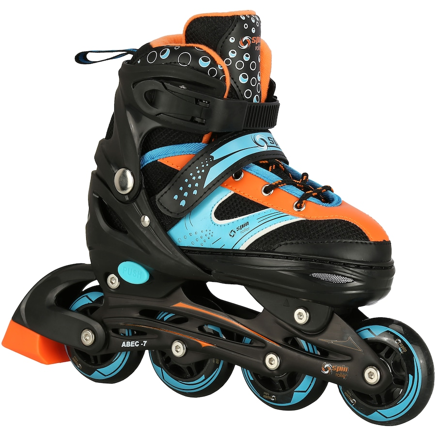 Patins Spin Roller Start New - In Line - Fitness - ABEC 7 - Ajustável -  Adulto a60e928f4e3