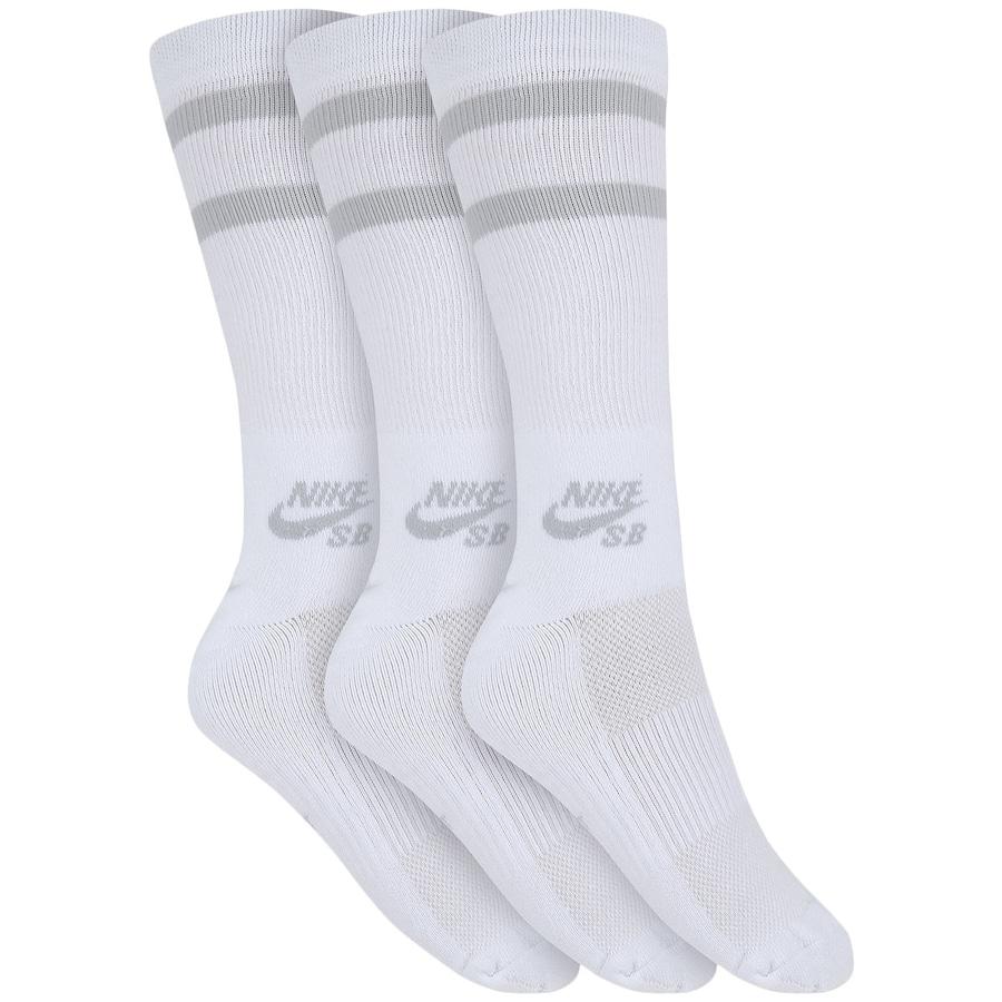 Kit de Meias Cano Alto Nike SB Crew Socks - Adulto 6840ee09bc703