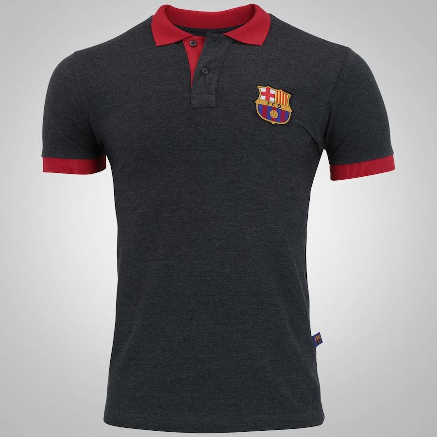 5a2f02ab0f Camisa Polo Barcelona Brasão - Masculina
