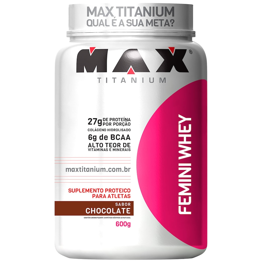 Whey Protein Max Titanium Chocolate Femini - 600g