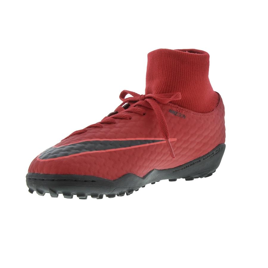 ... Chuteira Society Nike Hypervenom X Phelon III DF TF - Infantil ... 6e2d58b168b31