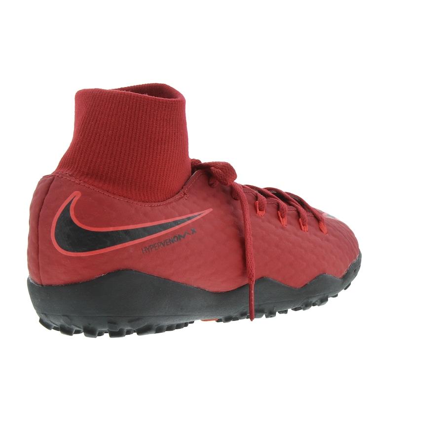 ... Chuteira Society Nike Hypervenom X Phelon III DF TF - Infantil ... 7020897a19b1d