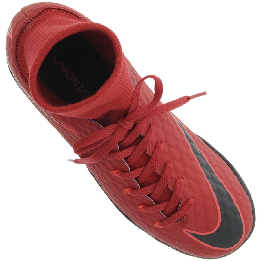 ... Chuteira Society Nike Hypervenom X Phelon III DF TF - Infantil ... 9f5c626fb0219