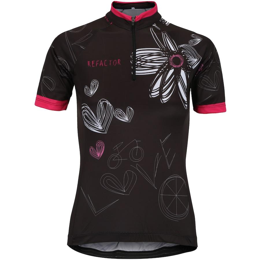 Camisa de Ciclismo com Proteção Solar UV Refactor Bike Love - Feminina e348339cfe19e