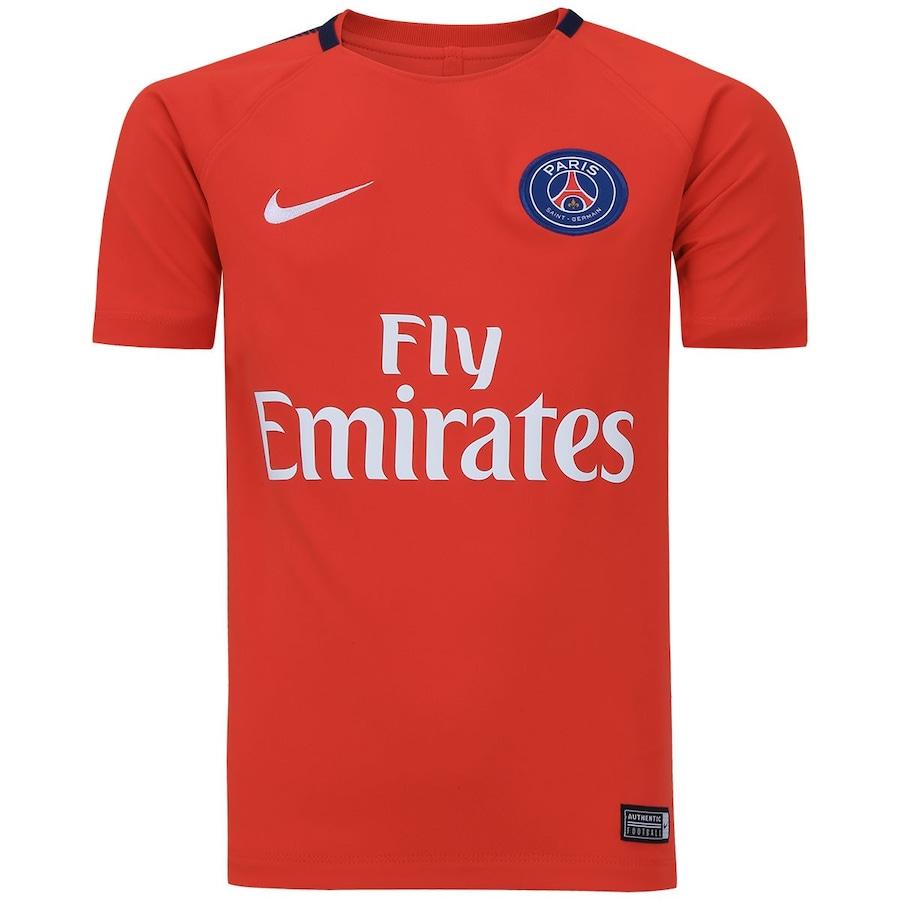 Camisa de Treino PSG 17 18 Nike - Infantil 82a6ee2c59524