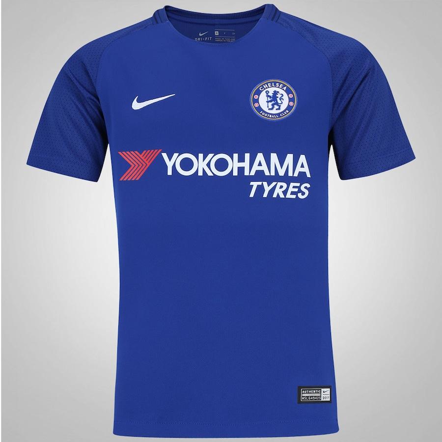 Camisa Chelsea I 17 18 Nike - Infantil 1b6d313922198