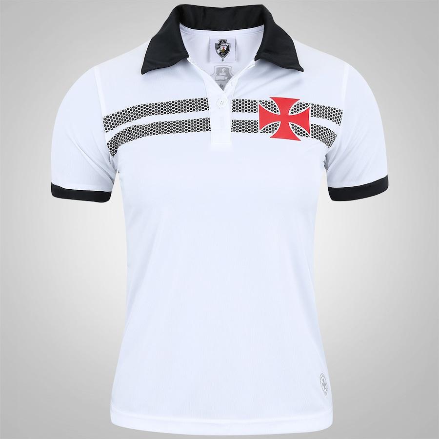 Camisa Polo do Vasco da Gama Cruz de Malta - Feminina b301b5278f110