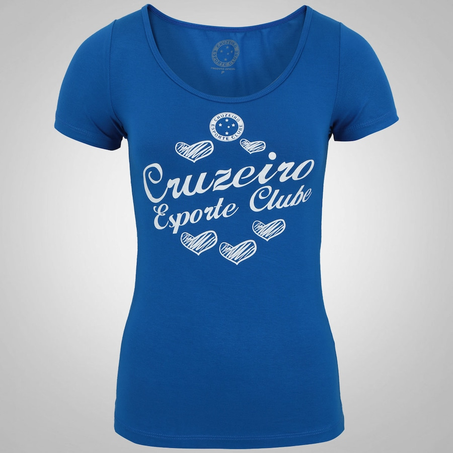 Camiseta do Cruzeiro Heart Shadow - Feminina b63669b362d5e