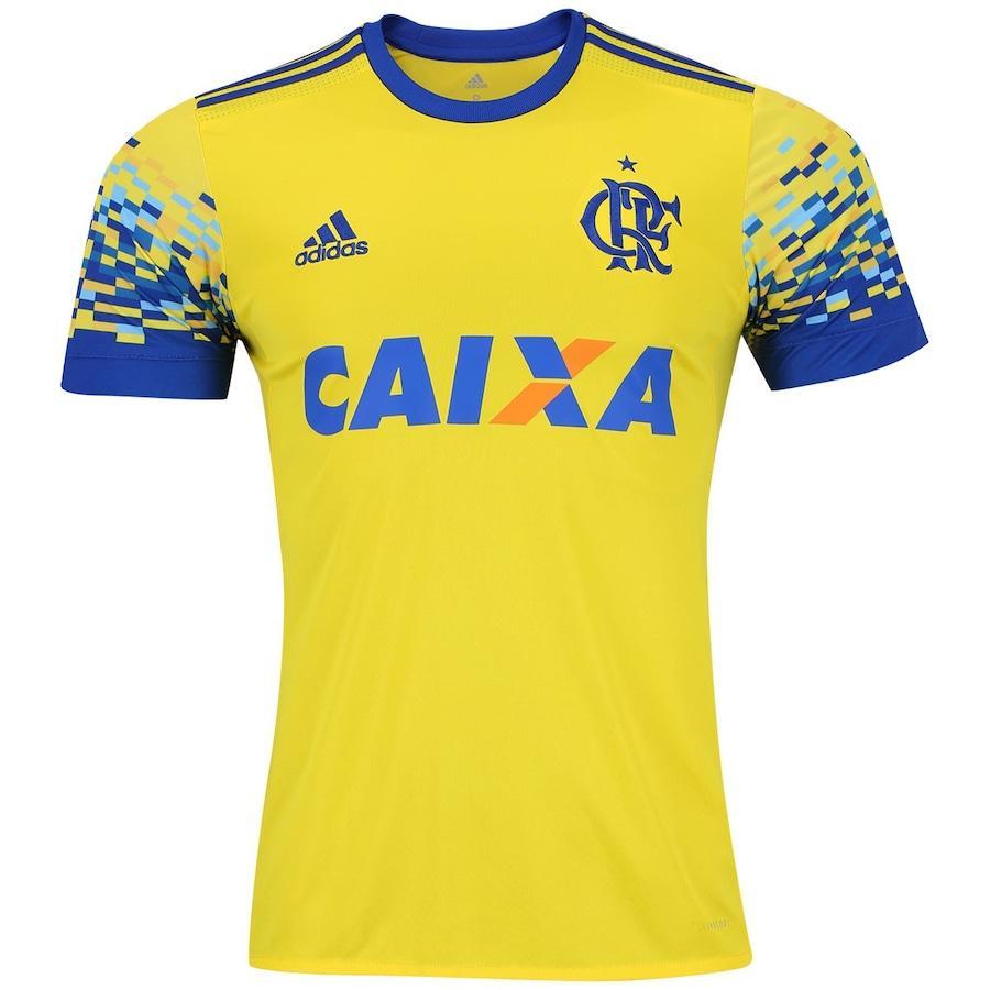 Camisa do Flamengo III 2017 adidas com Patrocínio - Masculi 9abcd3214d429