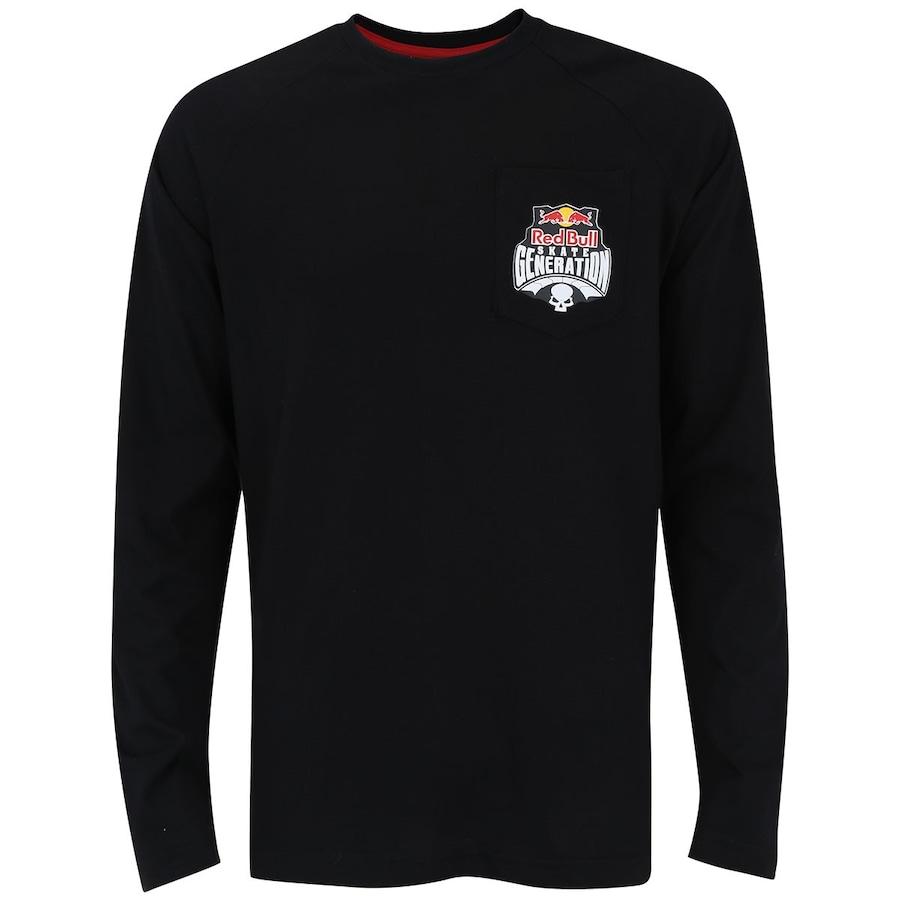 Camiseta Manga Longa Red Bull Pocket Logo - Masculina 1599eeb7a52