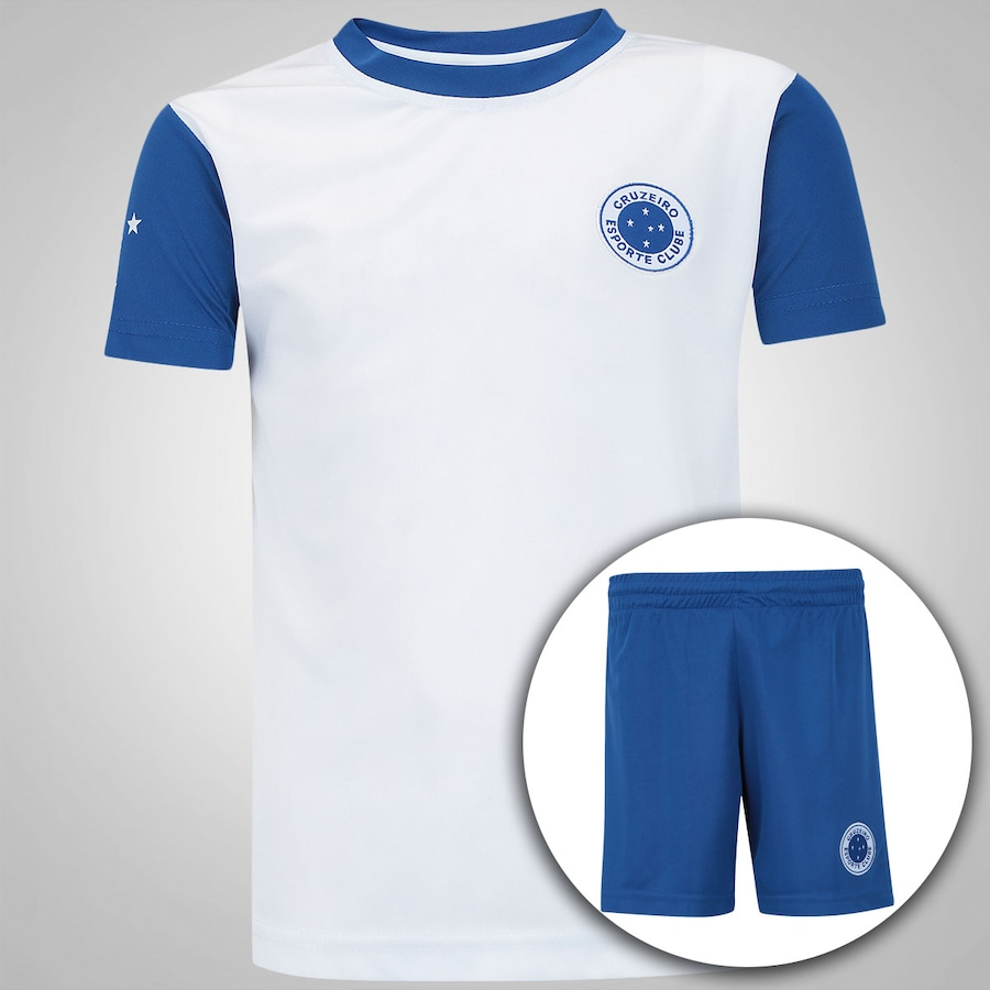 1f3f62c243 Kit de Uniforme de Futebol do Cruzeiro Patch - Infantil