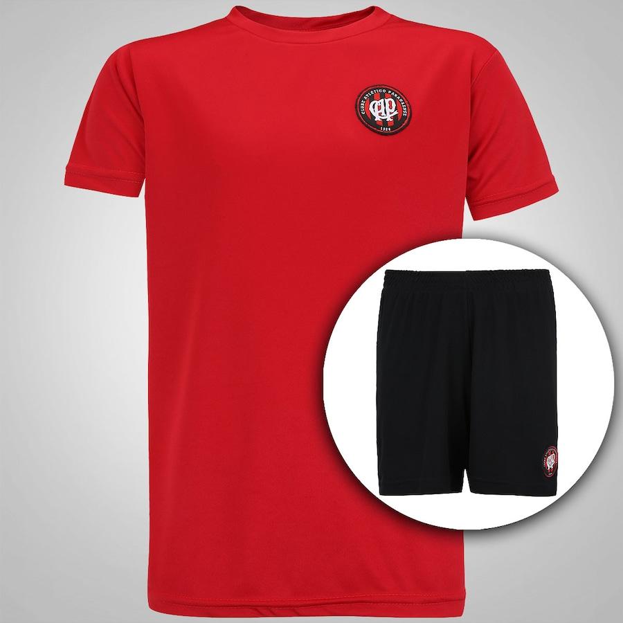 Kit de Uniforme de Futebol do Atlético-PR Logo - Infantil de0ea095bf86d