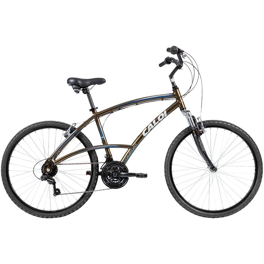 759c7345e Bicicleta Caloi 400 M - Aro 26 - Freio V-Brake - Câmbio Traseiro Shimano -  21 Marchas