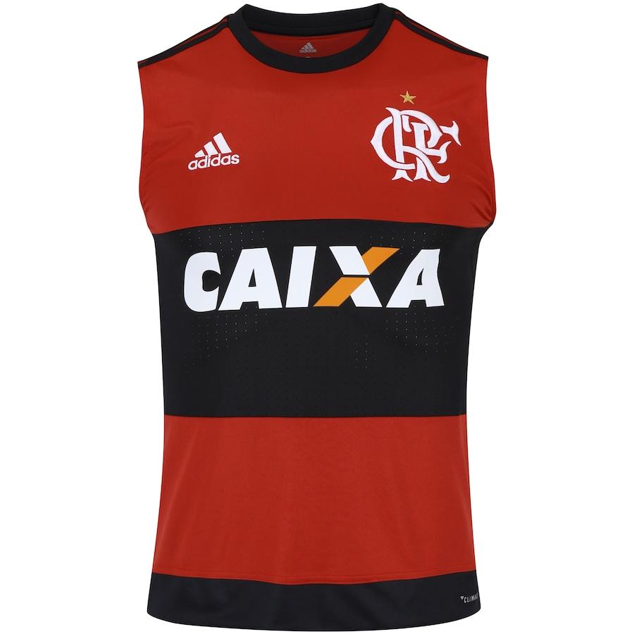 Camiseta Regata do Flamengo I 2017 adidas com Patrocínio - Masculina 4635323d1a3d1