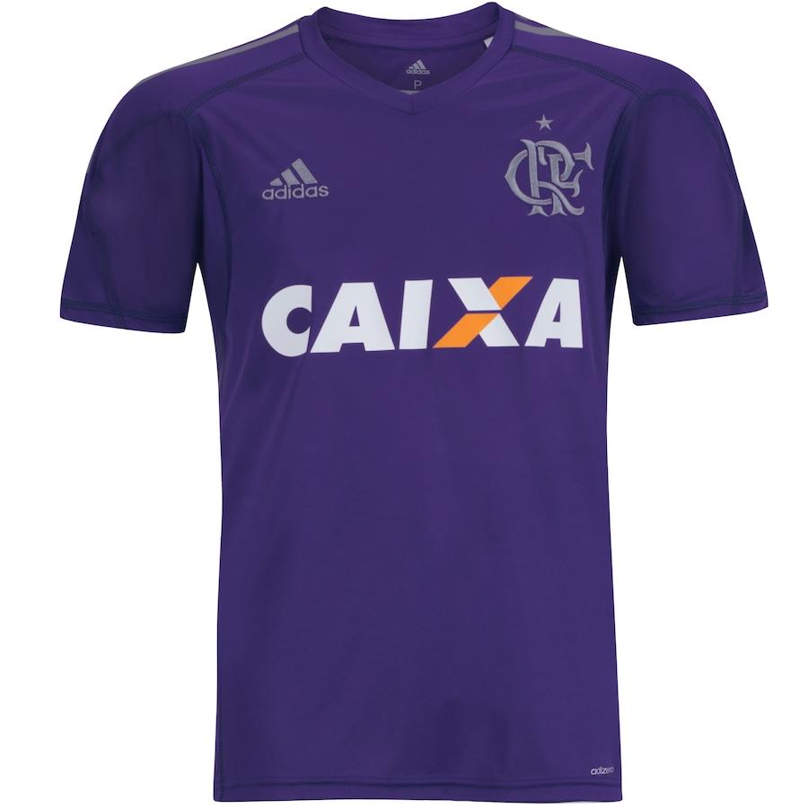 667d9f5380d4d Camisa de Goleiro do Flamengo I 2017 adidas com Patrocínio