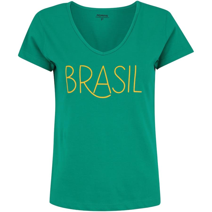 0c926de0d6 Camiseta do Brasil Fan 2018 Adams - Feminina