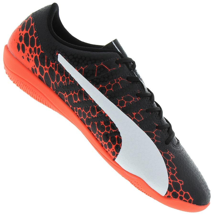 3b11f69650 Chuteira Futsal Puma Evopower Vigor 4 Graphic IN - Adulto