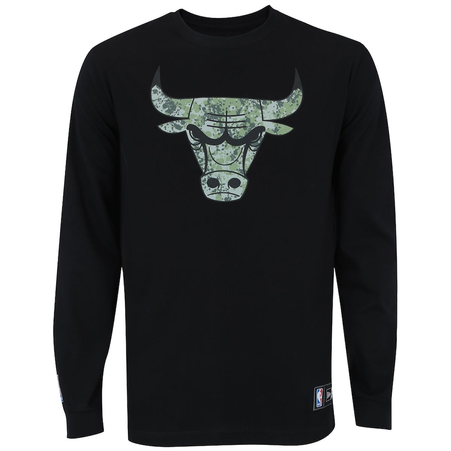 Camiseta Manga Longa New Era Chicago Bulls - Masculina c87124ee89b