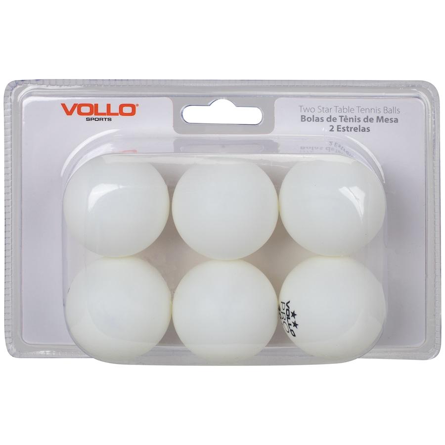 Kit de Bolas de Tênis de Mesa/Ping-Pong Vollo com 6 Unidades
