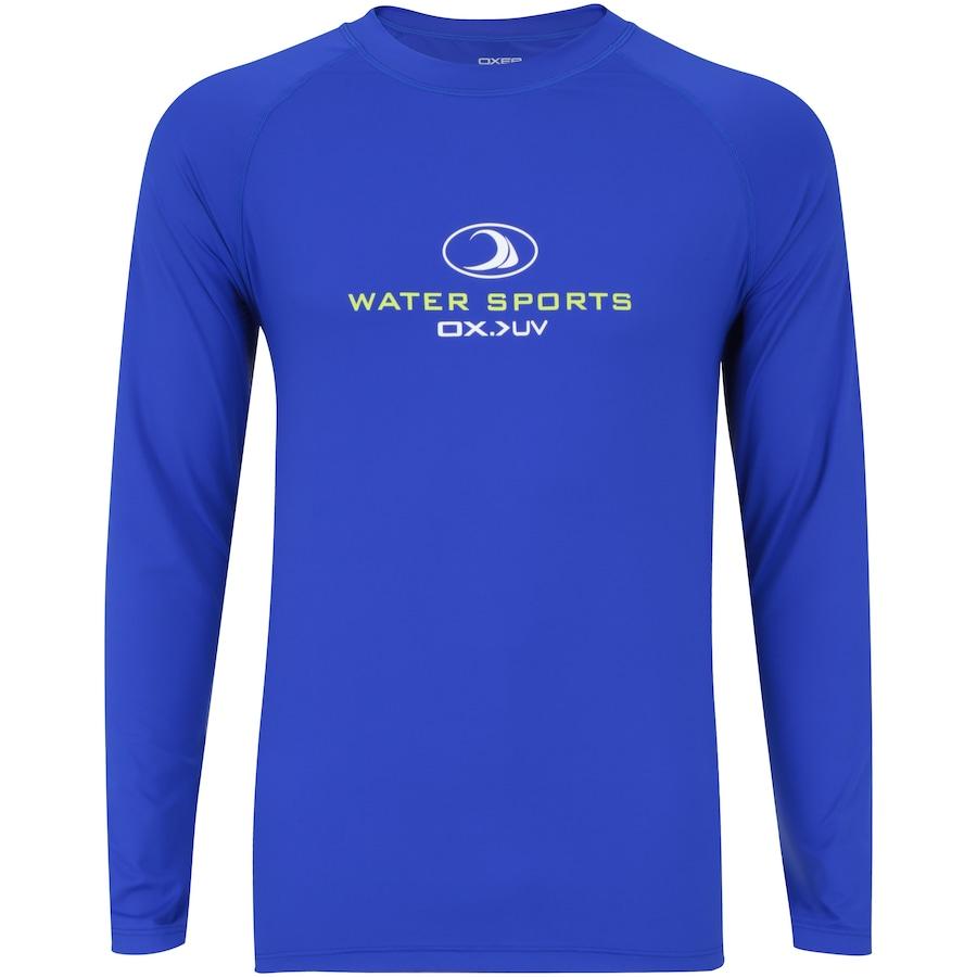 Camiseta Manga Longa com Proteção Solar UV Oxer Samoa - Masculina 5d8cbdbf12a7b