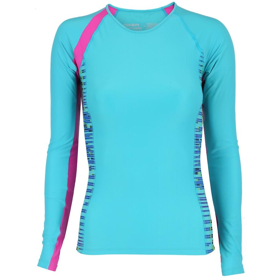 Camiseta Manga Longa com Proteção Solar UV Oxer Samoa - Fem c708487137efe
