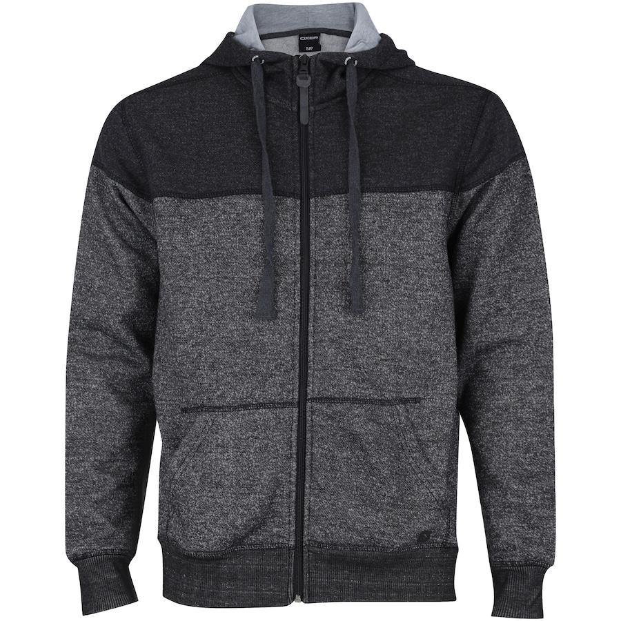 Jaqueta de Moletom com Capuz Oxer Bicolor Confort - Masculina 5579c182fc1